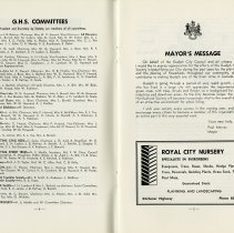 Image of G.H.S. Committees; Mayor's Message