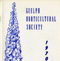 Image of Guelph Horticultural Society 1970 Annual, Perennials