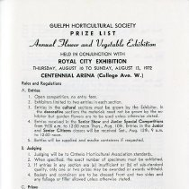 Image of Prize List, Flower & Vegetable Exhibition, p.43