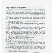 Image of The President Reports; Editorial, p.3