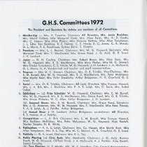 Image of G.H.S. Committees 1972, p.8