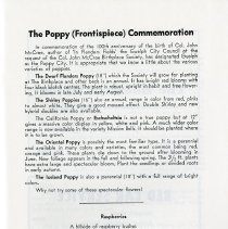 Image of The Poppy (Frontispiece) Commemoration, p.11