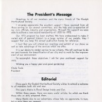 Image of President's Message; Editorial, p.3