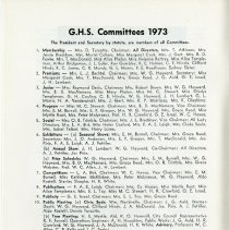 Image of G.H.S. Committees 1973, p.10