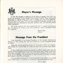 Image of Mayor's Message; Editorial, p.3