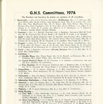 Image of G.H.S. Committees, 1976, p.11