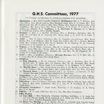 Image of G.H.S. Committees, 1977, p.13