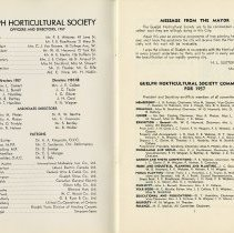 Image of Guelph Horticultural Society Committees for 1957