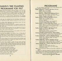Image of Guelph's Tree Planting Programme for 1957, pp.26,27