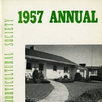 Image of Guelph Horticultural Society 1957 Annual