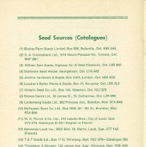 Image of Seed Sources, back cover