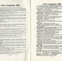 Image of G.H.S. Committees; Programme 1980, pp.2-3