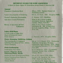 Image of Reference Books for Home Gardeners, back cover