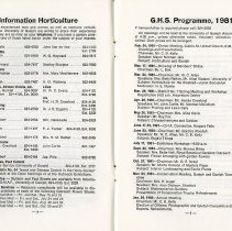 Image of Information Horticulture; Program, 1981, pp.4-5