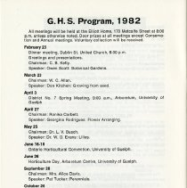 Image of G.H.S. Program, 1982, p.24