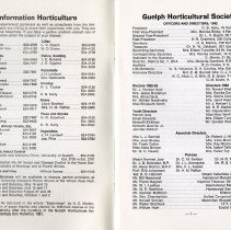 Image of Information Horticulture; Officers and Directors, p.1
