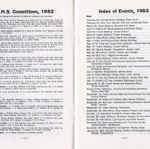 Image of G.H.S. Committees; Index of Events, 1982, pp.2-3