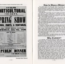 Image of Show Schedule, 1853; How to Show a Winner, pp.14-15