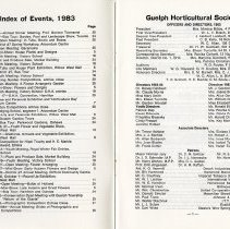 Image of Index of Events; Officers & Directors, p.1