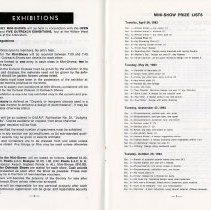 Image of Exhibitions; Mini-Show Prize Lists, pp.4-5