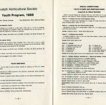 Image of Youth Program, 1986; Youth Flower & Vegetable Show, pp.18-19