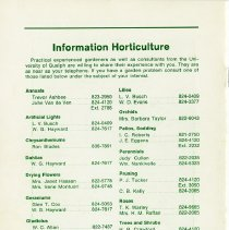Image of Information Horticulture, back cover