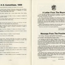 Image of G.H.S. Committees; Letter from the Mayor, pp.2-3