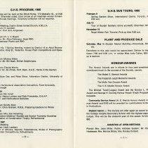 Image of G.H.S. Program 1986; Bus Tours; Honour Awards, pp.6-7