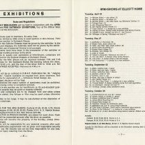 Image of Exhibitions; Mini-Shows at Elliott House, pp.8-9