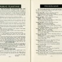 Image of Guelph's Public Planting; Programme for 1959, pp.28-9