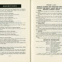 Image of Exhibitions; Prize List, Annual Flower & Vegetable Show, pp.34-5