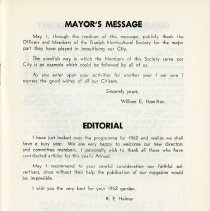 Image of Mayor's Message; Editorial, p.1