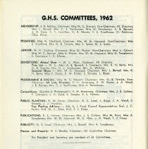 Image of G.H.S. Committees, 1962, p.6