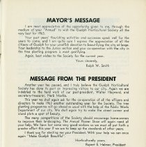 Image of Messages from Mayor, and the President, p.1