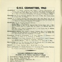 Image of G.H.S. Committees, 1963