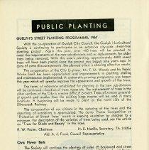 Image of Public Planting Programme, 1963