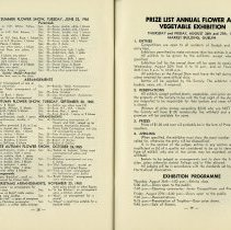 Image of Prize List, Annual Flower & Vegetable Exhibition, p.39