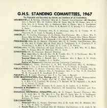 Image of G.H.S. Committees, 1967, p.4
