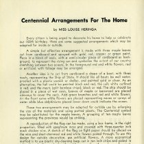 Image of Centennial Arrangements for the Home, p.6