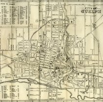 Image of Pull-out Map, Street Guide for Guelph, 1948