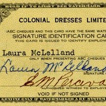 Image of Colonial Dresses Limited Identifcation Card