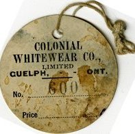 Image of Price Tag, Colonial Whitewear Co. Limited