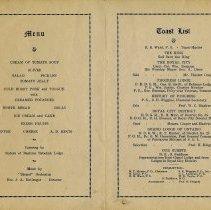 Image of Menu and Toast List