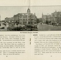 """Image of """"St. George's Square, Guelph,"""" pages 16 and 17"""
