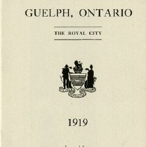 """Image of """"Guelph, Ontario, The Royal City, 1919,"""" page 1"""