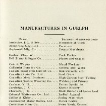 """Image of """"Manufactures in Guelph, A - F,"""" page 23"""