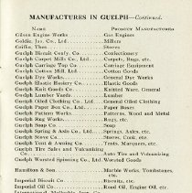 """Image of """"Manufactures in Guelph, G - L"""", page 25"""