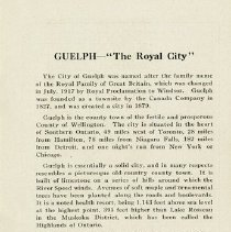 """Image of """"Guelph, The Royal City,"""" page 3"""