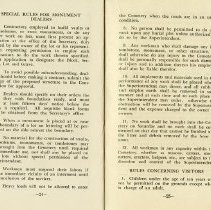 Image of Special Rules for Monument Dealers; Rules Concerning Visitors, pp.24-25