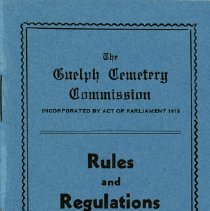 Image of Rules and Regulations for Woodlawn Cemetery, 1944